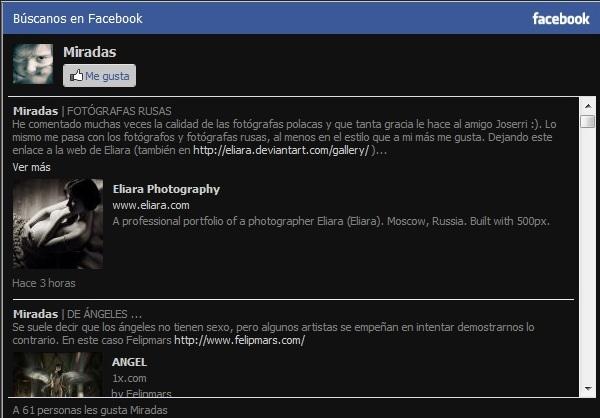 Miradas en Facebook